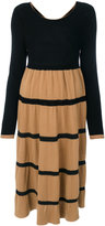 Twin-Set knitted line dress - women - Polyamide/Viscose/Wool/Alpaca - S