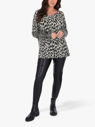 Live Unlimited Curve Animal Print Jumper, Multi