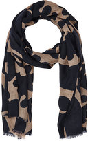 Luciano Barbera MEN'S ABSTRACT-PRINT LIGHTWEIGHT CASHMERE TWILL SCARF