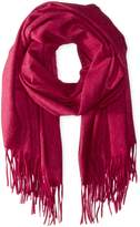Sofia Cashmere Women's 100 Percent Cashmere Fringed Stole Scarf