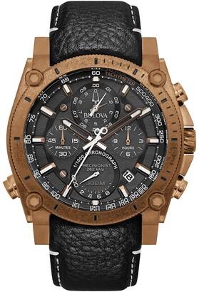 Bulova Men's Bronze-Tone Precisionist Watch, 46.5 mm
