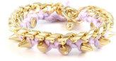 Ettika Thread Bracelet on Link Chain in Lilac