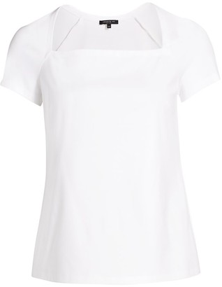 Lafayette 148 New York, Plus Size Corinne Square-Neck Top