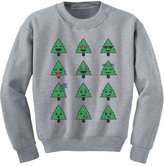 TeeStars - Emoji Christmas Tree Funny Faces Xmas Youth Kids Sweatshirt