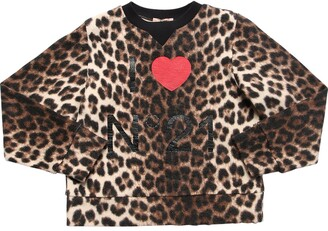 N°21 Leopard Print Cotton Sweatshirt