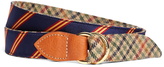 Brooks Brothers Kiel James Patrick Mini BB#1 Stripe and Green Plaid Belt