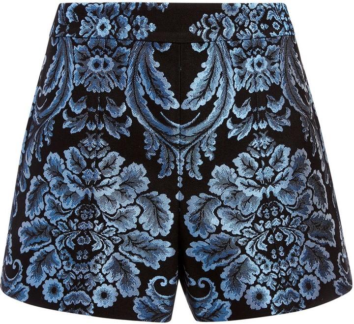 Alice + Olivia Hera high-waisted jacquard shorts