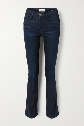 Frame Le Mini Boot Mid-rise Jeans - Blue