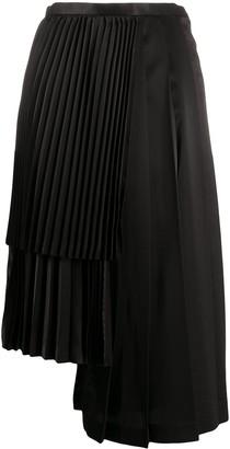Comme des Garcons Asymmetric Pleated Skirt