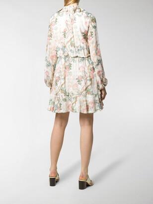 Chloé Long-Sleeved Pleated Dress