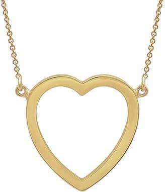 Jennifer Meyer Large Open Heart Necklace - Yellow Gold