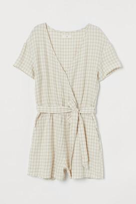 H&M Linen-blend Romper