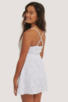 NA-KD Cross Back Lace Dress