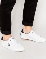 Fred Perry Hopman Leather Trainers - White