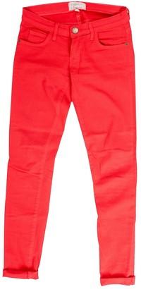 Current/Elliott Current Elliott Red Cotton Jeans