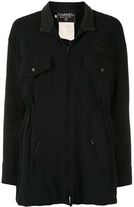 CC logo long-sleeve jacket