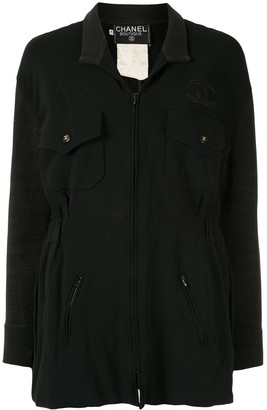 Chanel Pre Owned CC logo long-sleeve jacket