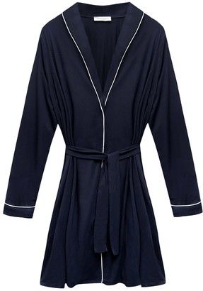 Made Wright London Katherine Robe In Navy