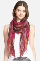La Fiorentina Women's Ikat Print Wool Scarf