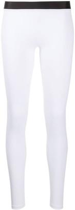 Balmain Printed Logo Leggings
