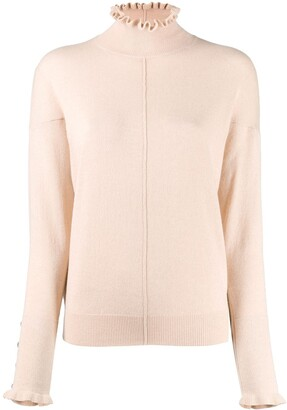 Chloé Turtleneck Ruffle Sweater