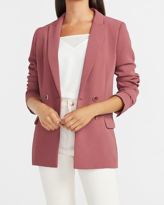 Express Double Breasted Boyfriend Blazer