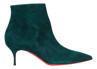 Christian Louboutin So Kate Booty Green Suede Ankle boots