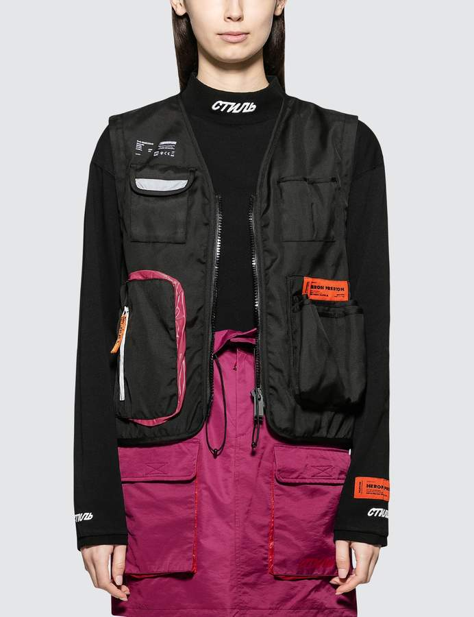 Heron Preston Nylon Tool Vest Jacket