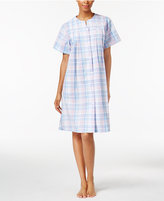 Miss Elaine Plaid Snap-Front Robe