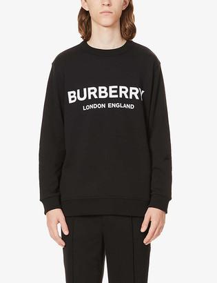 Burberry Lanslow logo-print cotton-jersey sweatshirt