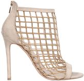 Elie Saab 110mm Chain & Suede Cage Sandals