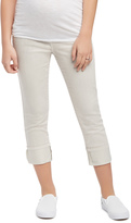 Motherhood Secret Fit Belly Twill Skinny Leg Maternity Crop Pants