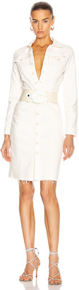 Mother Cover Up Knee Fray Dress in Cream Puffs | FWRD