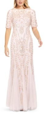 Adrianna Papell Floral Embellished Gown