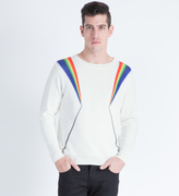 Phenomenon White Prism Light Pullover Sweater