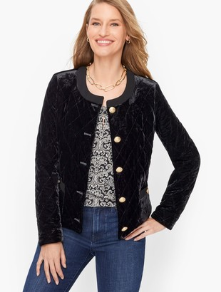 Talbots Velvet Quilted Jacket