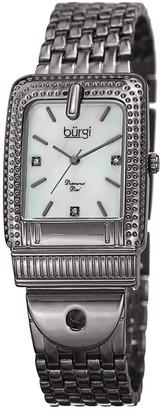 Burgi Women's Diamond Marker Buckle Watch