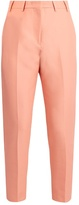 No.21 NO. 21 Cotton cropped slim-leg trousers