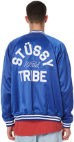 Stussy Big Tribe Mens Bomber Jacket Blue
