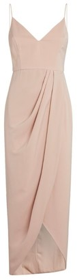 Shona Joy Draped Cocktail Dress
