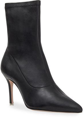 Black Suede Studio Akiyo Stretch Leather Ankle Booties
