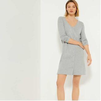 Joe Fresh Women's Long Button-Front Cardi, Light Grey Mix (Size XS)
