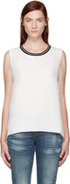 Rag & Bone White Silk Romy Top