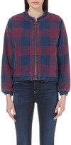MiH Jeans Selvy checked cotton jacket