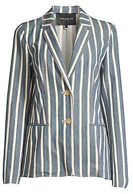 Lafayette 148 New York Women's Briallen Sonoran Striped Denim Blazer