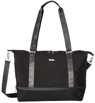 Baggallini Expandable Carry on Duffel (Black/Charcoal) Duffel Bags