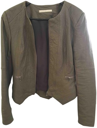 Willow Beige Leather Jacket for Women