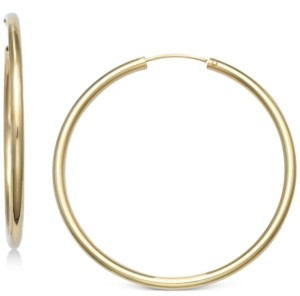 """Giani Bernini Large Endless Hoop Earrings in 18k Gold-Plated Sterling Silver, 2"""", Created for Macy's"""