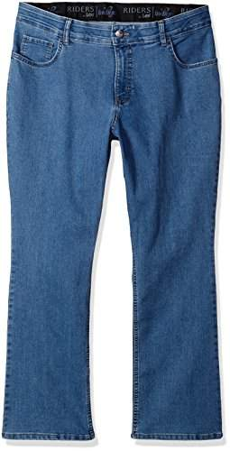 Lee Indigo Women's Plus Size Stretch No Gap Waist Bootcut Jean