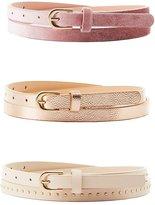 Charlotte Russe Plus Size Metallic, Studded & Velvet Belts - 3 Pack